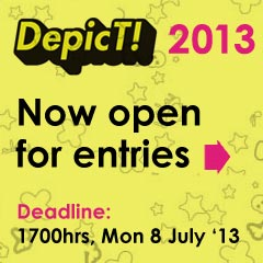 DepicT! 2013 now open for entries