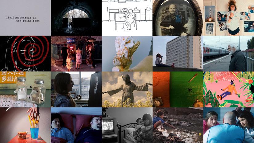 Compilation of 2018 shortlist film stills