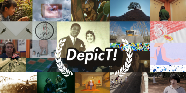 Grid of images from the shortlisted films for Depict